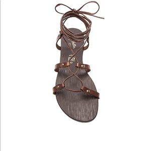 Seychelles Gawk Brown Leather Sandals